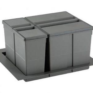 Conjunto de cubos de basura 9XL para cajón 60 cm